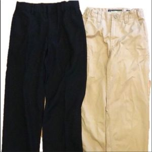 2 pairs of boys pants/slacks size 8.  1 Old Navy
